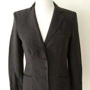 Lauren Ralph Lauren Blazer Dark Gray Silk Linen